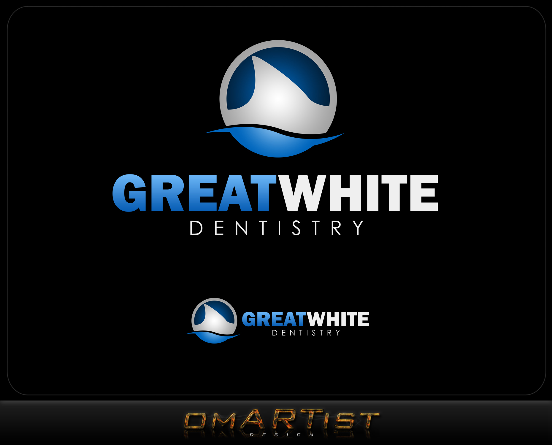 Logo Design by omARTist - Entry No. 116 in the Logo Design Contest Logo Design for Great White Dentistry.