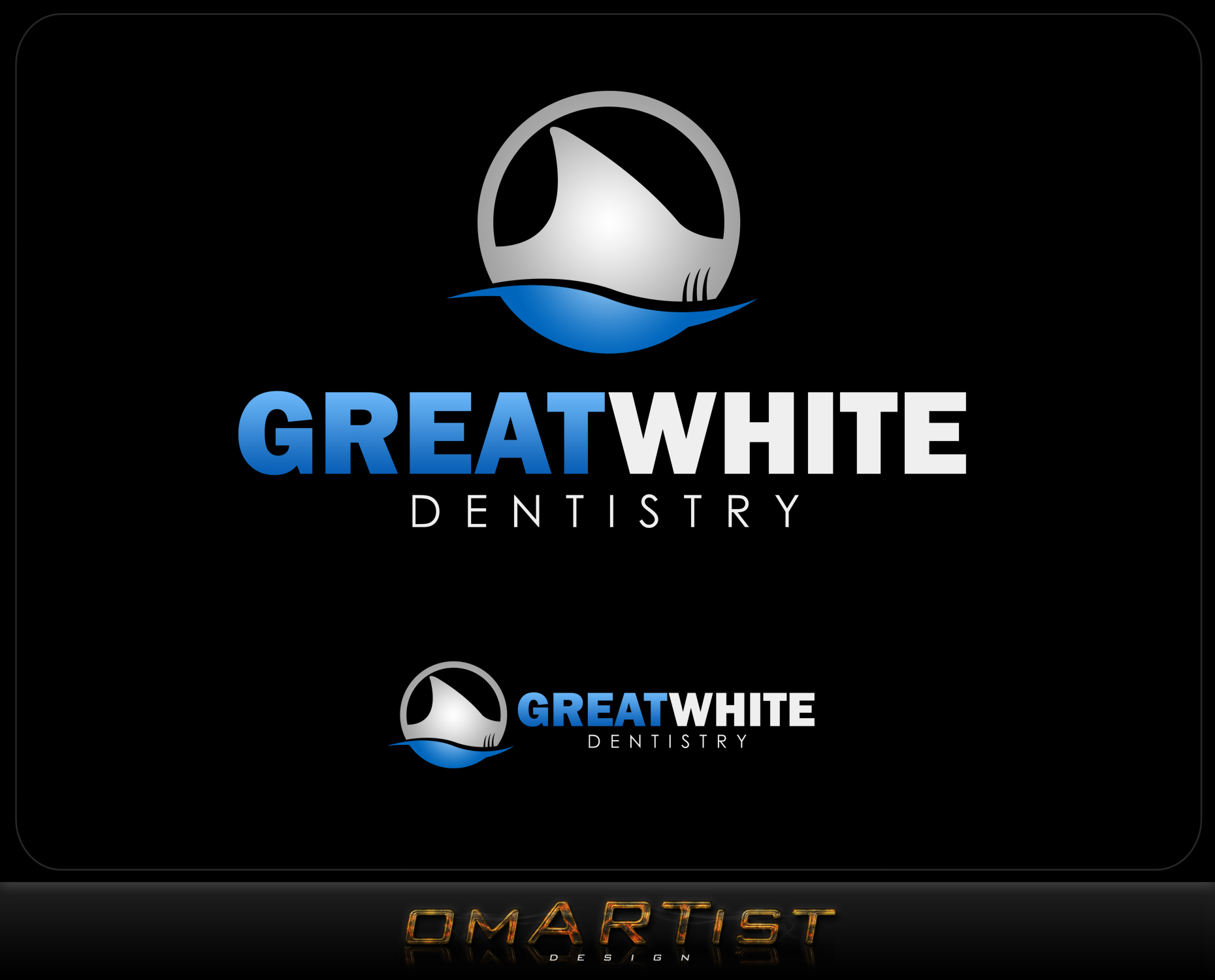 Logo Design by omARTist - Entry No. 117 in the Logo Design Contest Logo Design for Great White Dentistry.