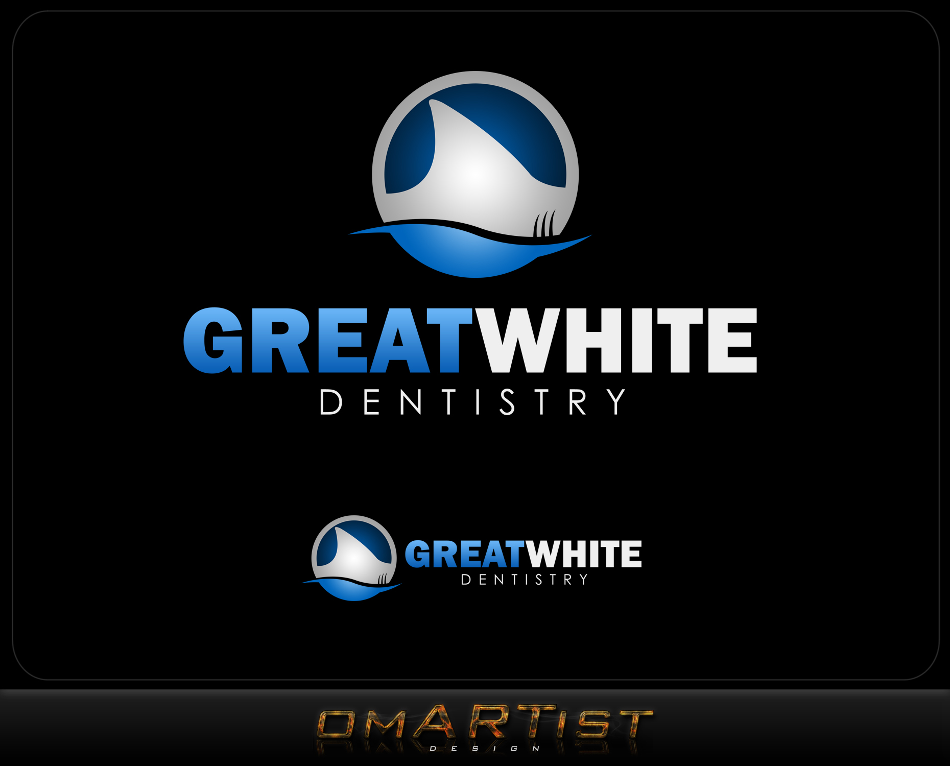Logo Design by omARTist - Entry No. 118 in the Logo Design Contest Logo Design for Great White Dentistry.