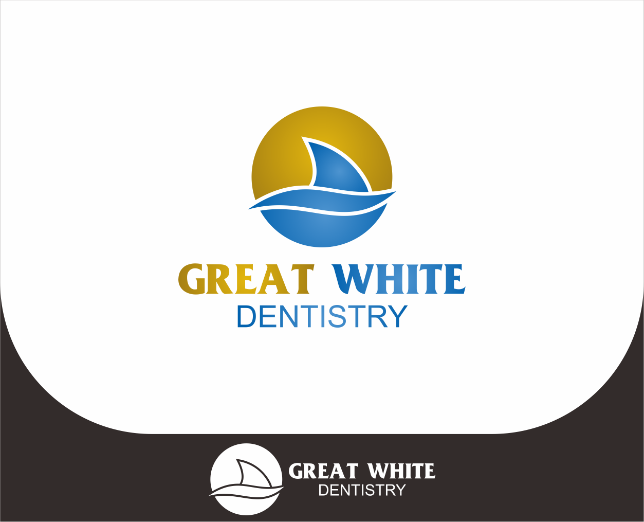 Logo Design by Armada Jamaluddin - Entry No. 120 in the Logo Design Contest Logo Design for Great White Dentistry.