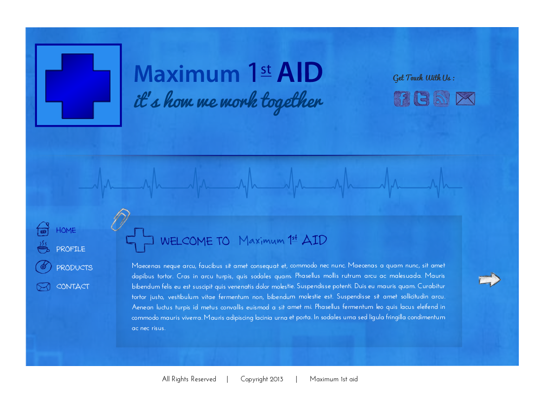 Web Page Design by Vishwa Km - Entry No. 11 in the Web Page Design Contest Inspiring Web Page Design for Maximum 1st Aid.