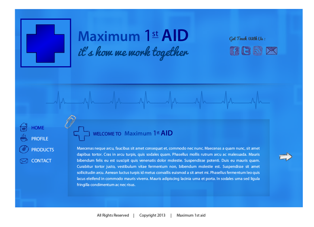 Web Page Design by Vishwa Km - Entry No. 12 in the Web Page Design Contest Inspiring Web Page Design for Maximum 1st Aid.
