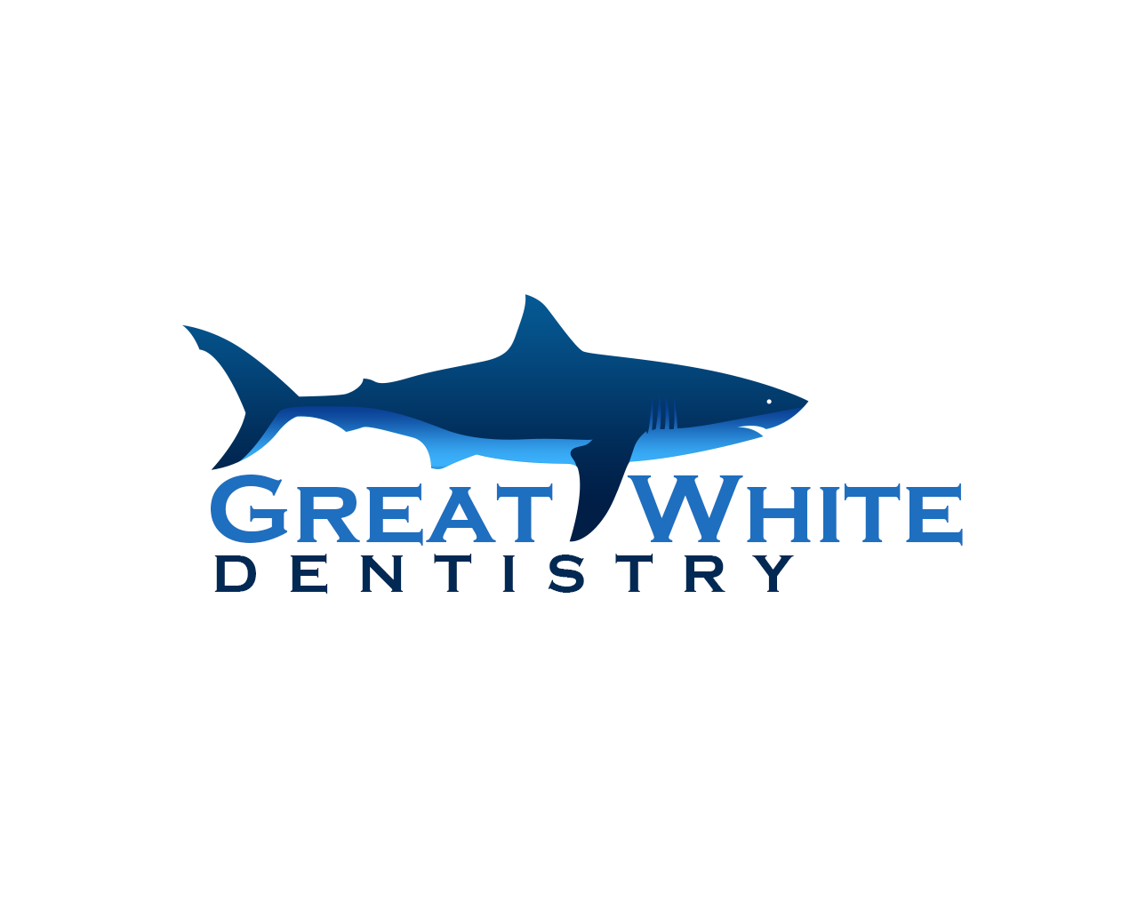 Logo Design by philipprince - Entry No. 132 in the Logo Design Contest Logo Design for Great White Dentistry.