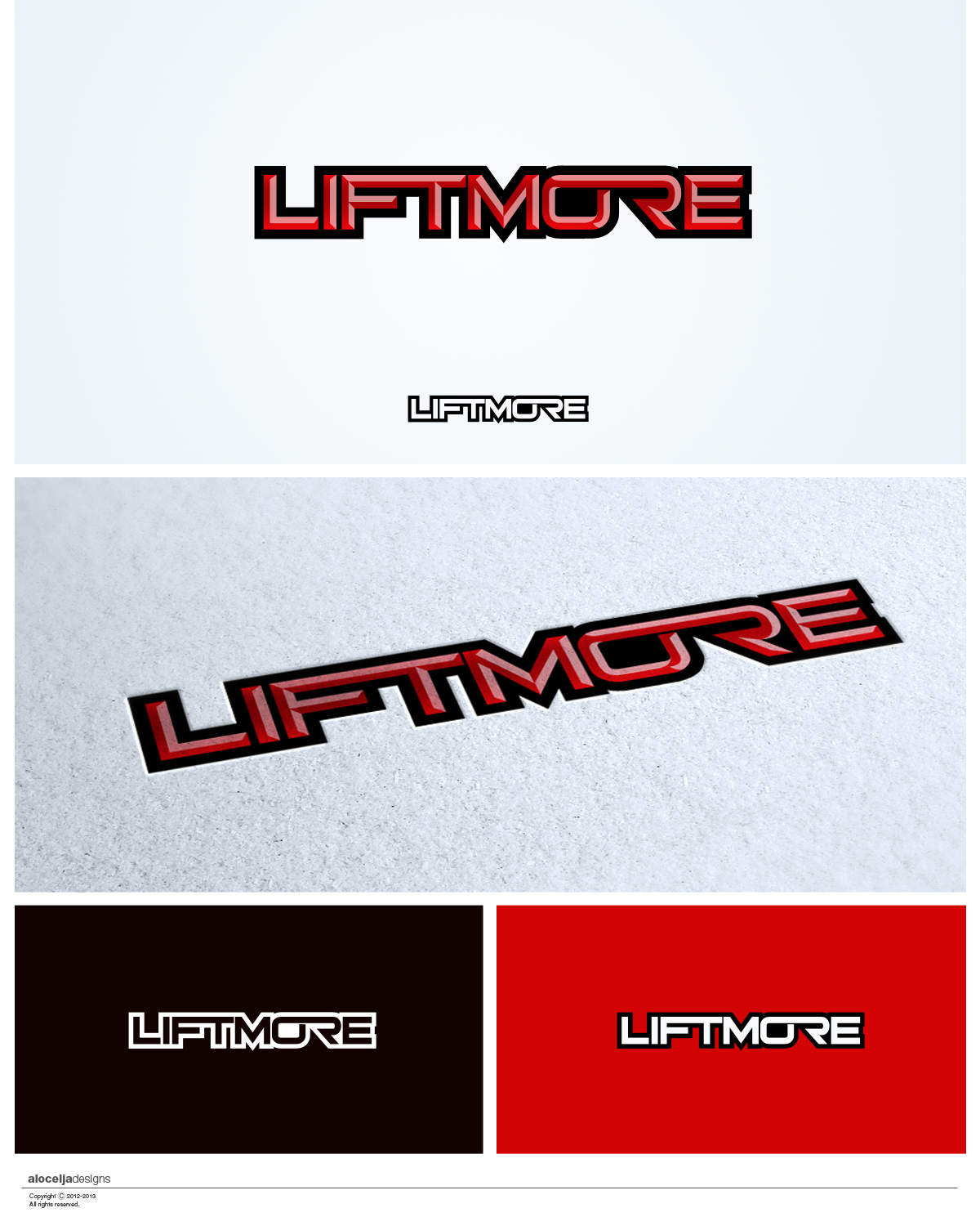 Logo Design by alocelja - Entry No. 63 in the Logo Design Contest Unique Logo Design Wanted for Liftmore.