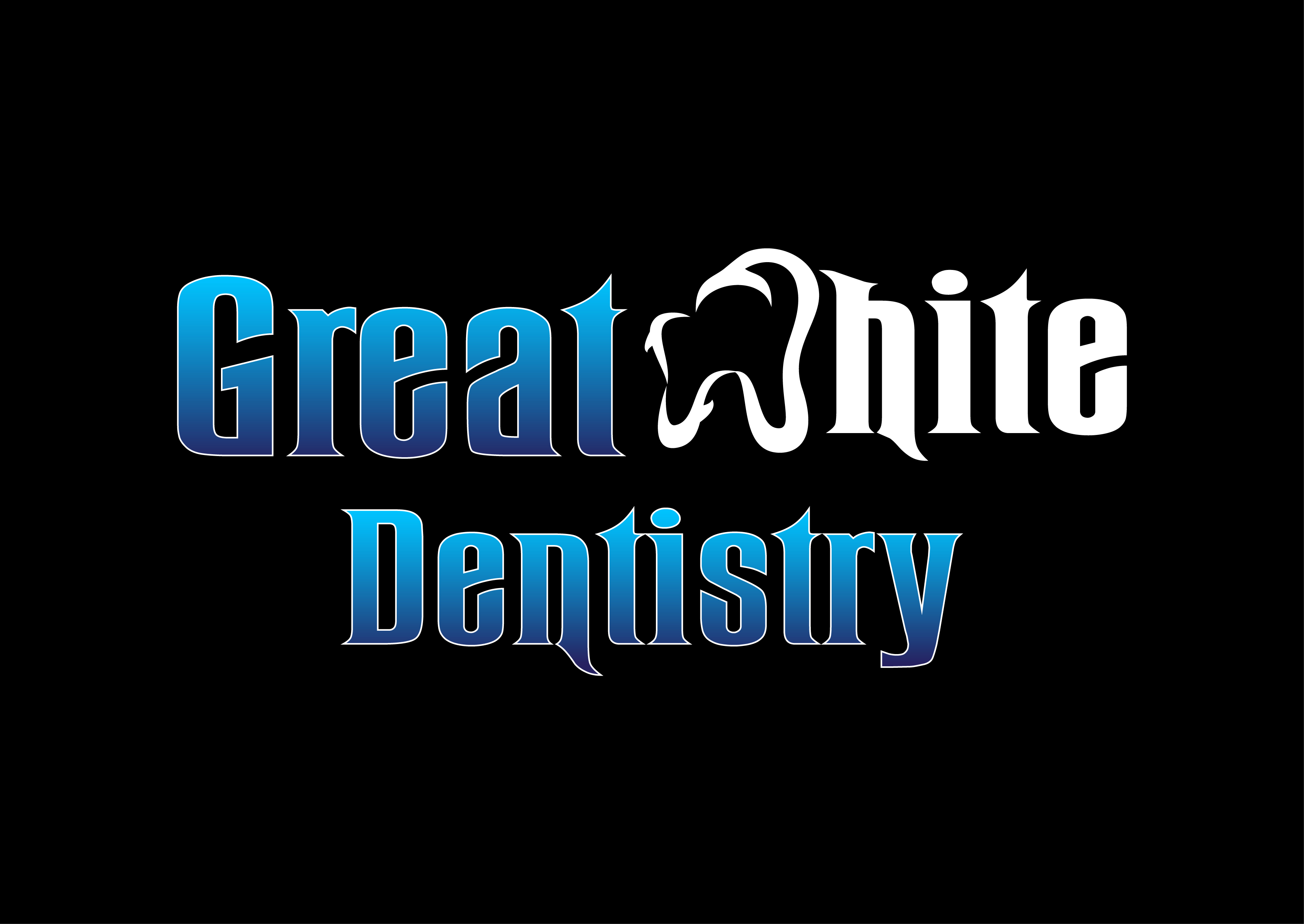 Logo Design by 3draw - Entry No. 136 in the Logo Design Contest Logo Design for Great White Dentistry.