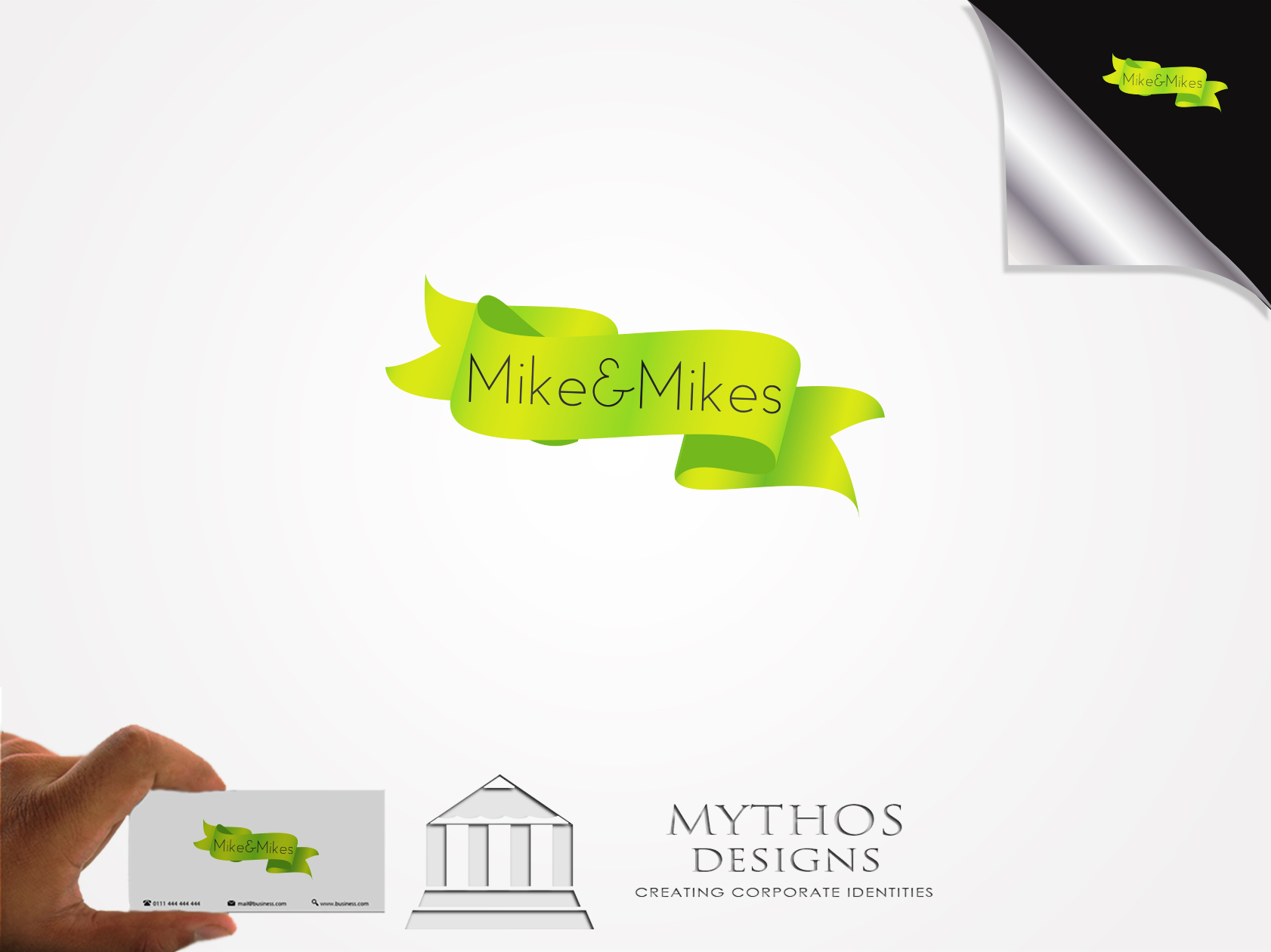 Logo Design by Mythos Designs - Entry No. 26 in the Logo Design Contest Captivating Logo Design for Mike and Mike's Inc..