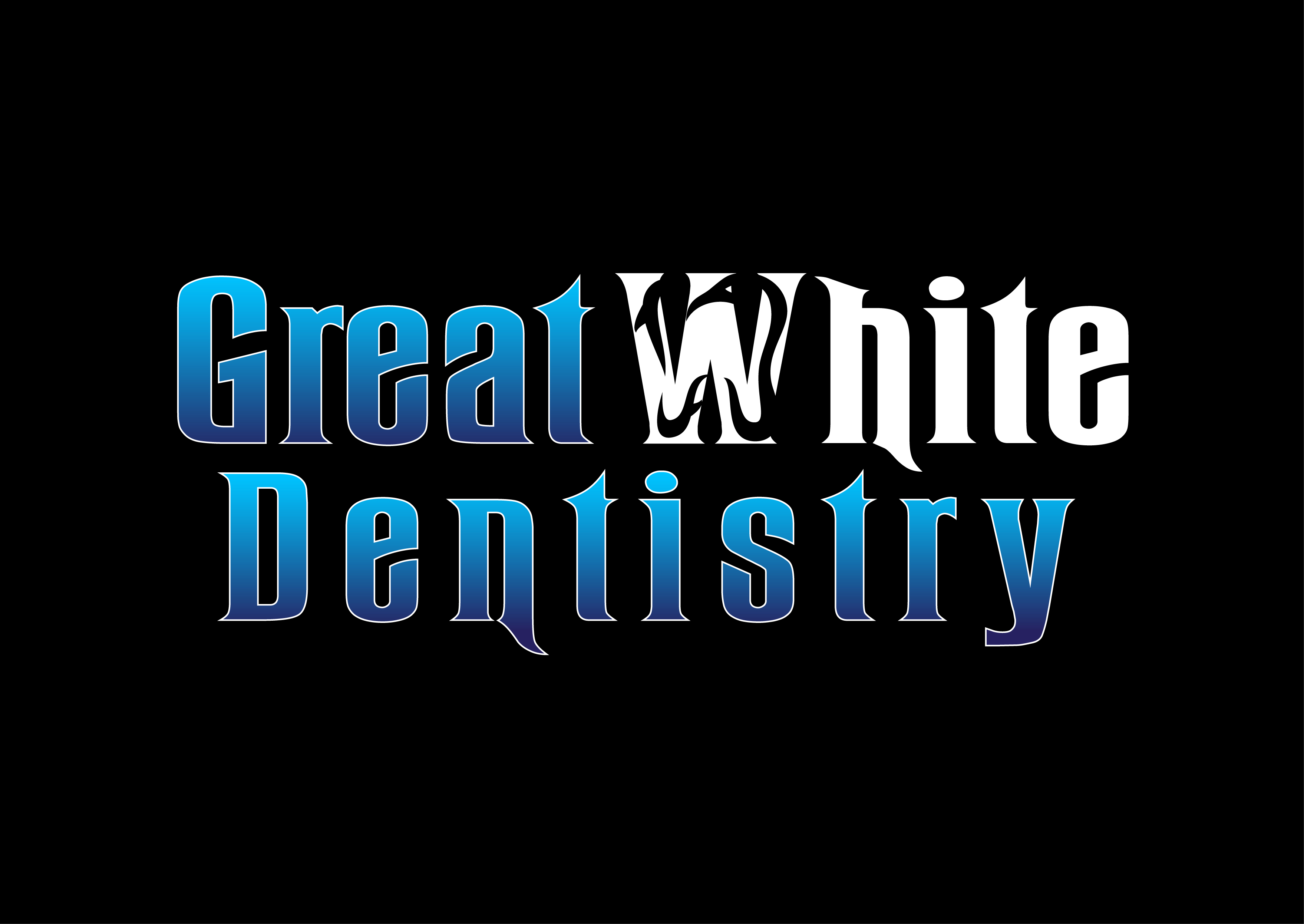 Logo Design by 3draw - Entry No. 137 in the Logo Design Contest Logo Design for Great White Dentistry.
