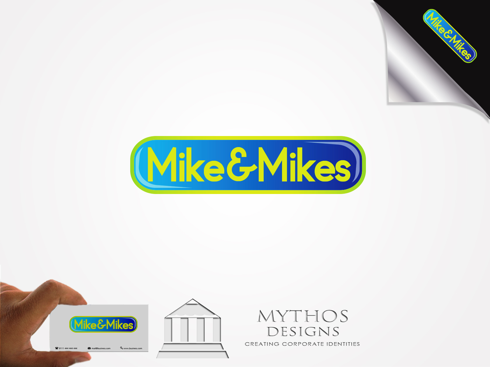 Logo Design by Mythos Designs - Entry No. 27 in the Logo Design Contest Captivating Logo Design for Mike and Mike's Inc..