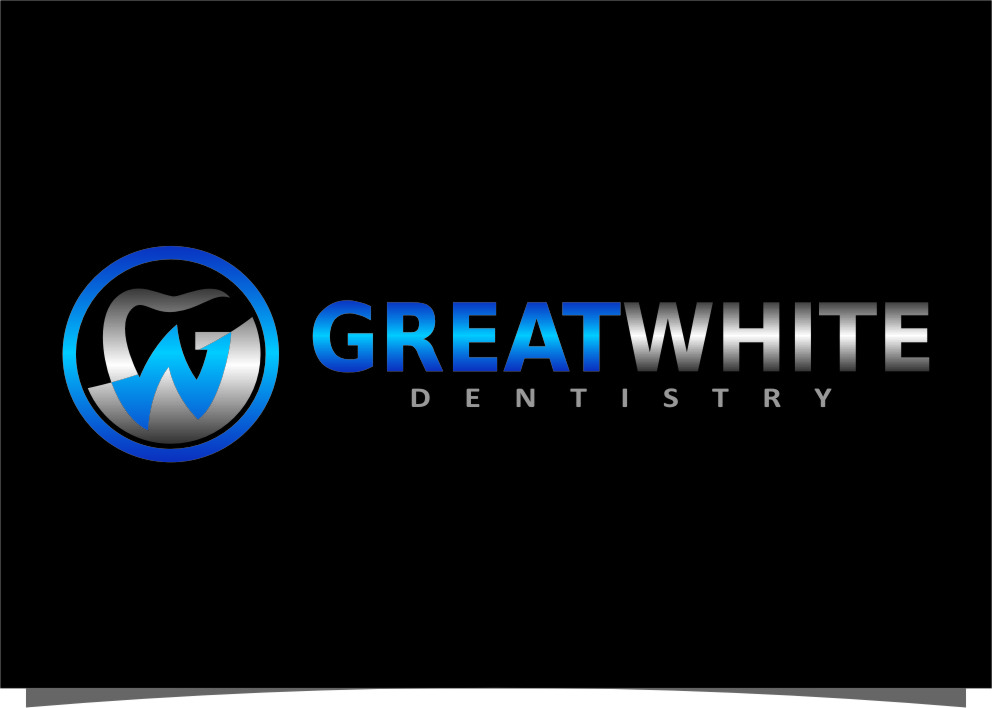 Logo Design by Ngepet_art - Entry No. 143 in the Logo Design Contest Logo Design for Great White Dentistry.