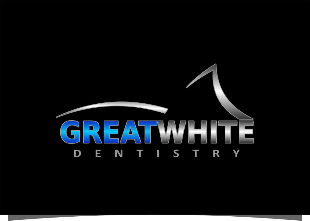 Logo Design by Ngepet_art - Entry No. 150 in the Logo Design Contest Logo Design for Great White Dentistry.