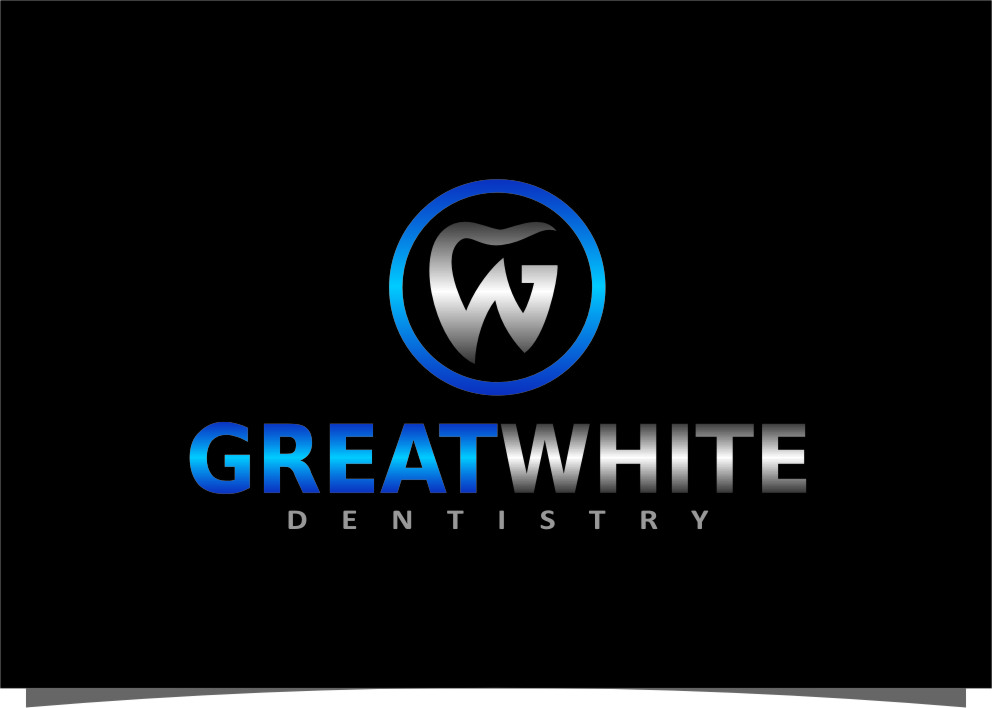 Logo Design by Ngepet_art - Entry No. 151 in the Logo Design Contest Logo Design for Great White Dentistry.