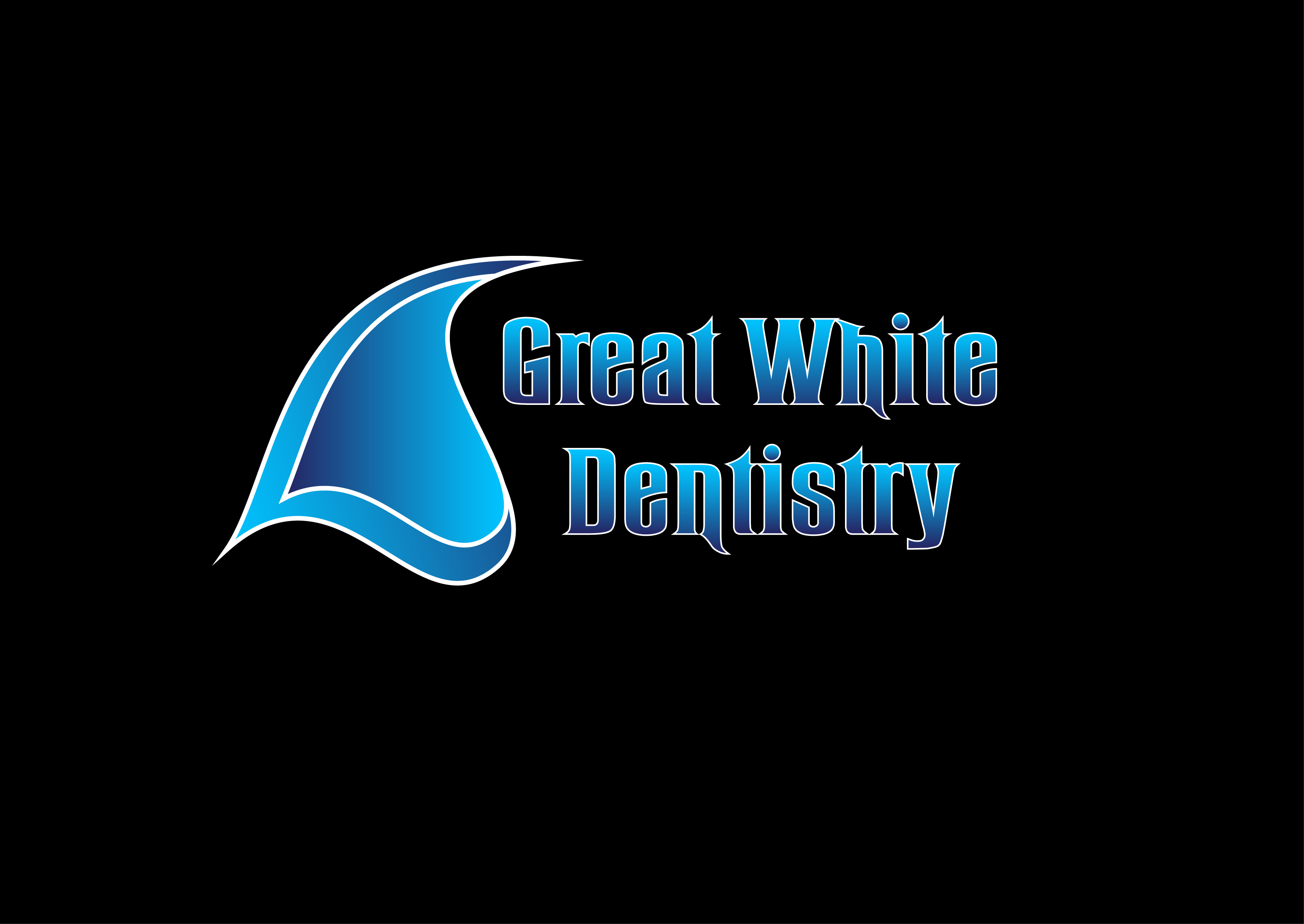 Logo Design by 3draw - Entry No. 153 in the Logo Design Contest Logo Design for Great White Dentistry.