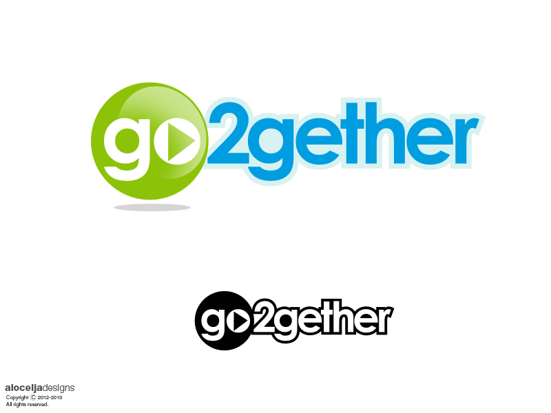 Logo Design by alocelja - Entry No. 9 in the Logo Design Contest Captivating Logo Design for GO2GETHER.
