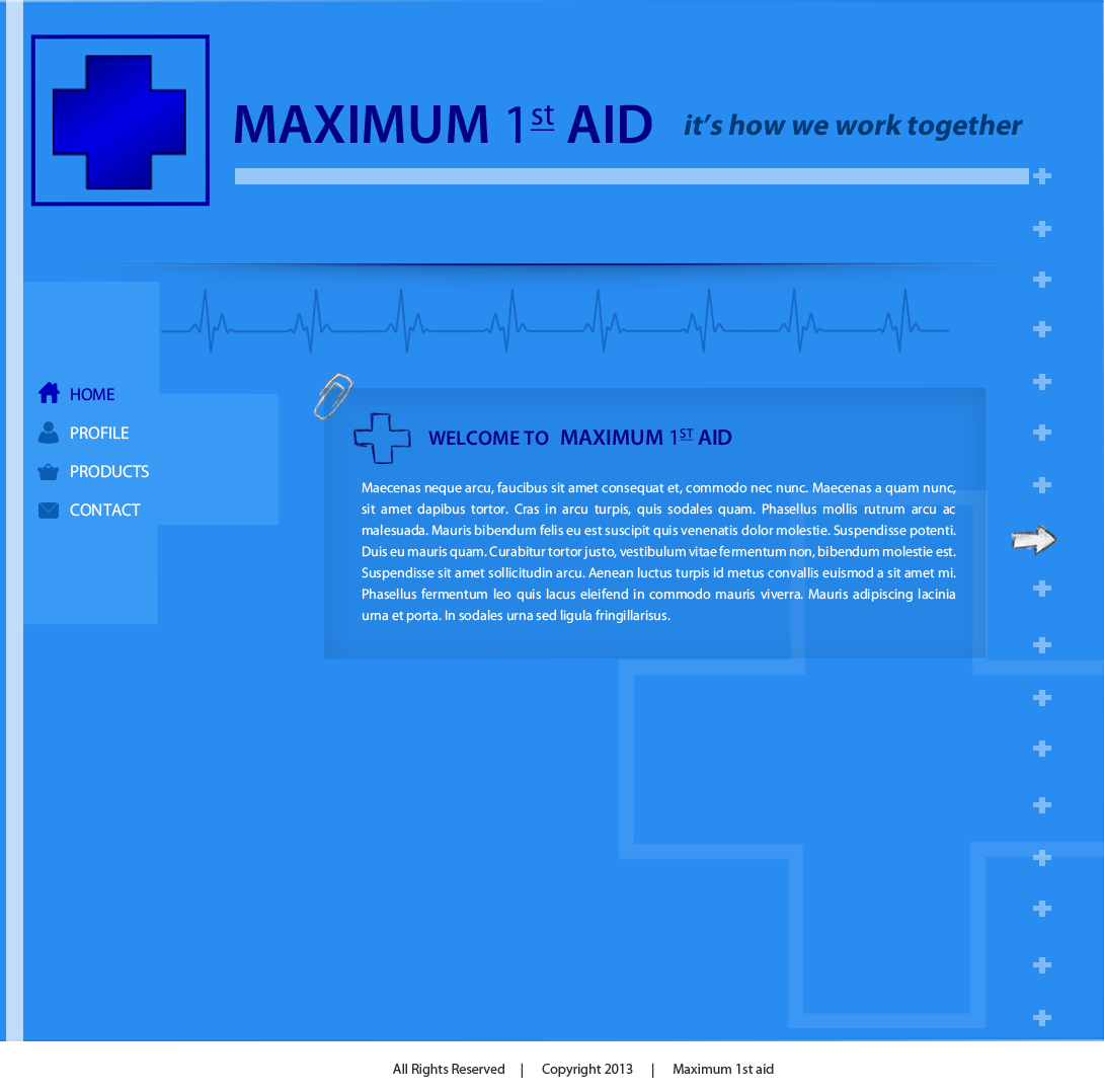 Web Page Design by Vishwa Km - Entry No. 13 in the Web Page Design Contest Inspiring Web Page Design for Maximum 1st Aid.