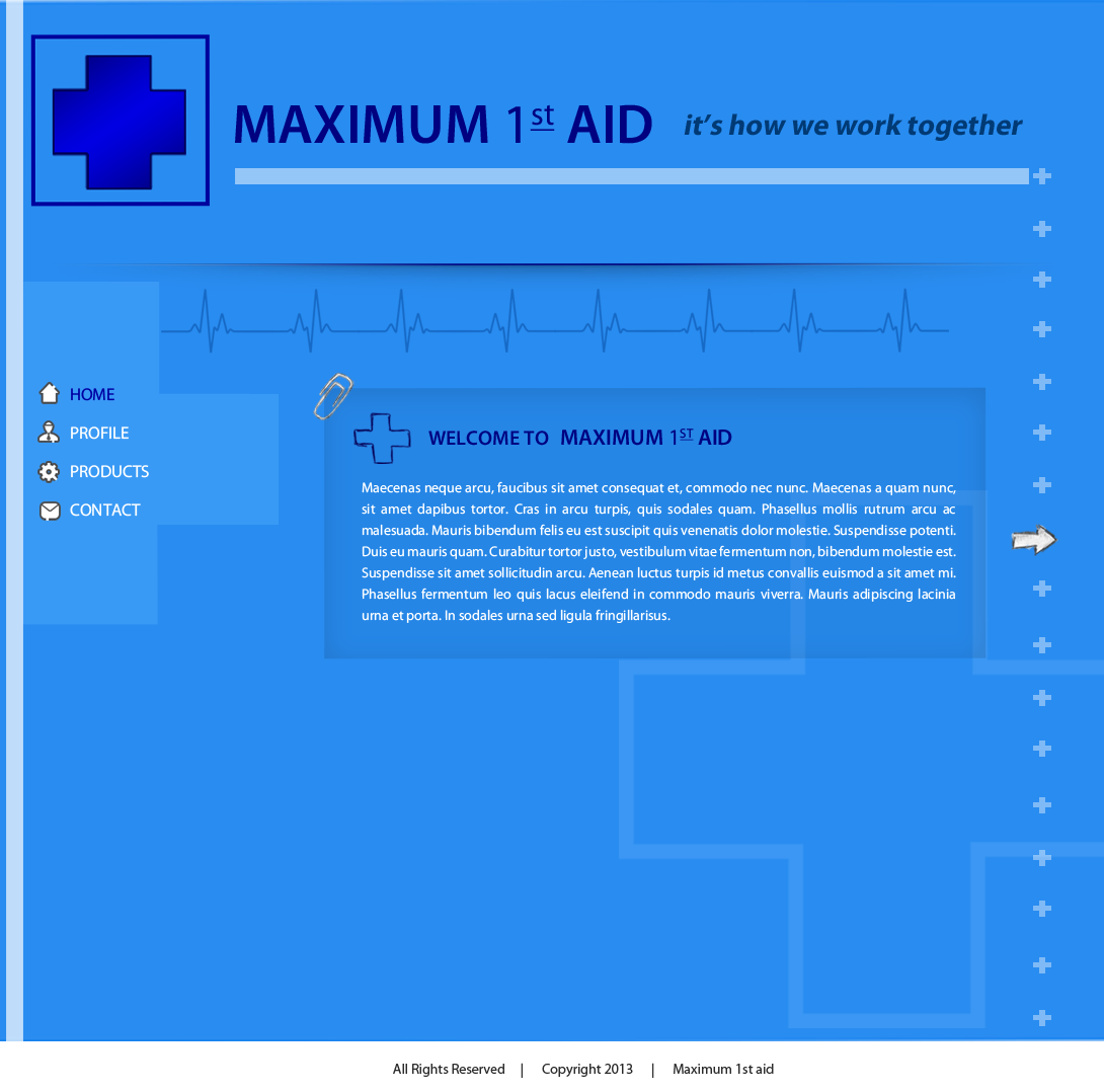 Web Page Design by Vishwa Km - Entry No. 14 in the Web Page Design Contest Inspiring Web Page Design for Maximum 1st Aid.