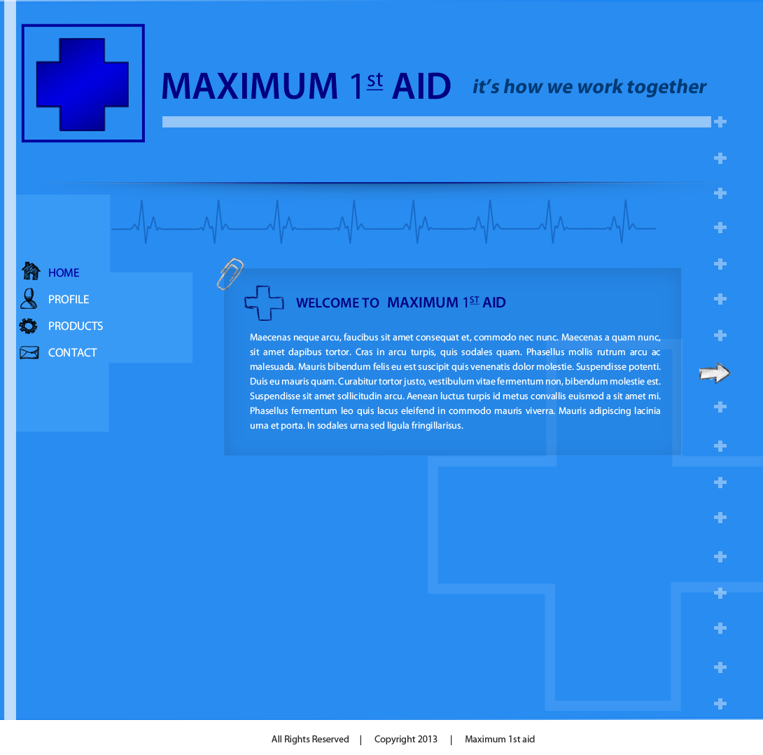 Web Page Design by Vishwa Km - Entry No. 16 in the Web Page Design Contest Inspiring Web Page Design for Maximum 1st Aid.