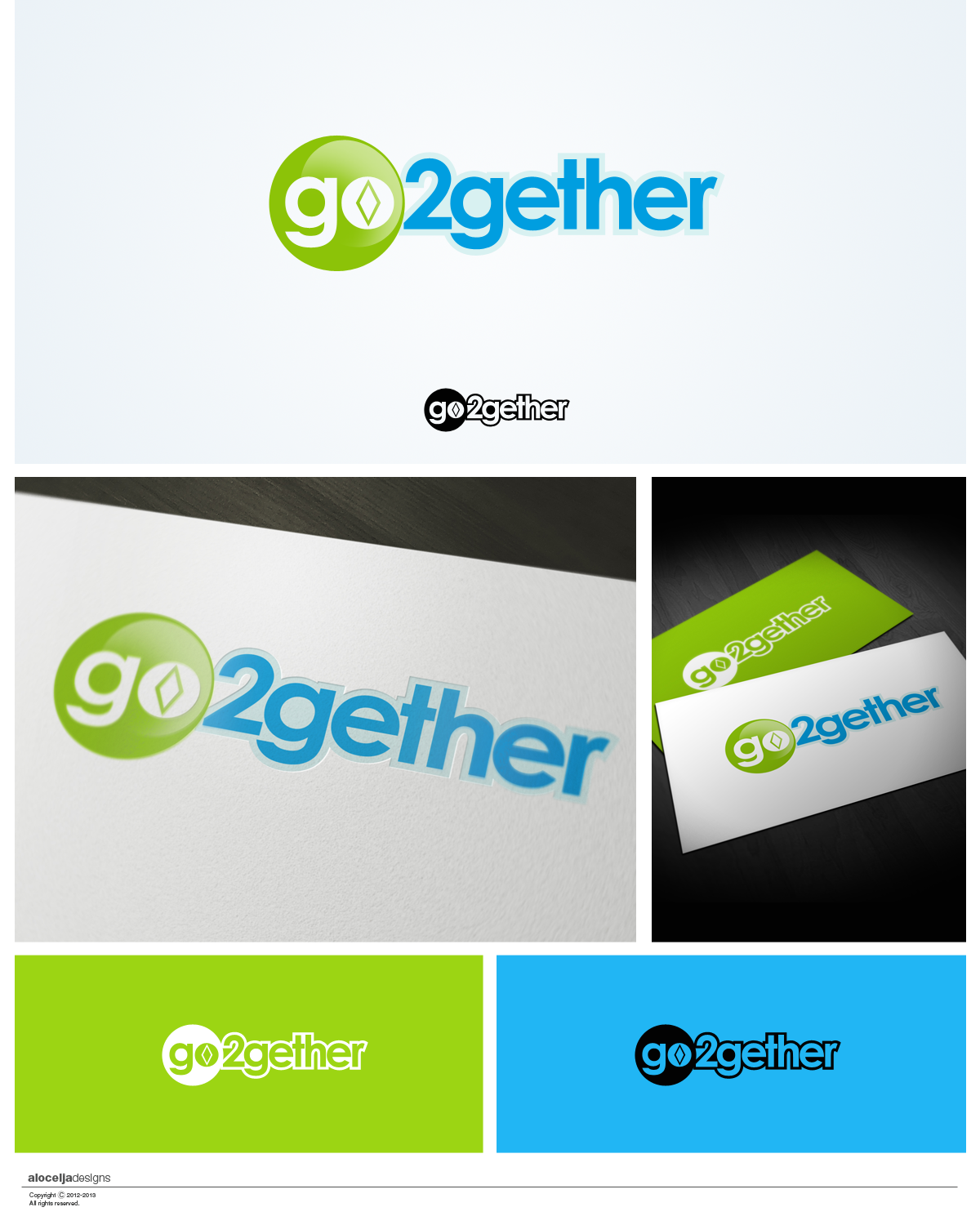 Logo Design by alocelja - Entry No. 14 in the Logo Design Contest Captivating Logo Design for GO2GETHER.