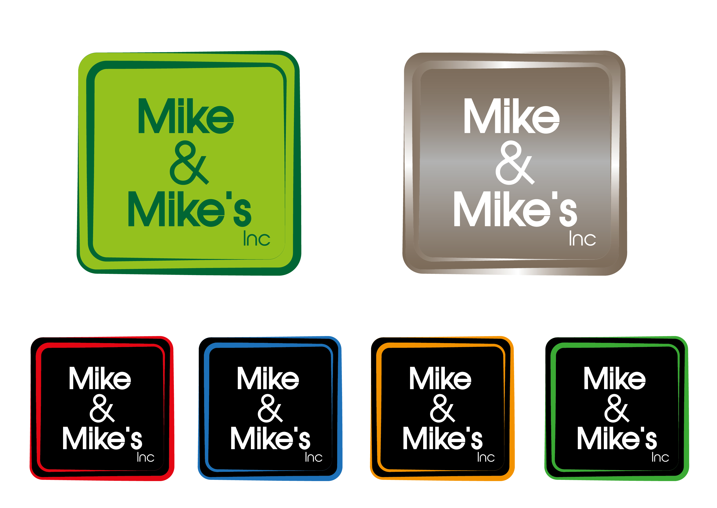 Logo Design by 3draw - Entry No. 36 in the Logo Design Contest Captivating Logo Design for Mike and Mike's Inc..