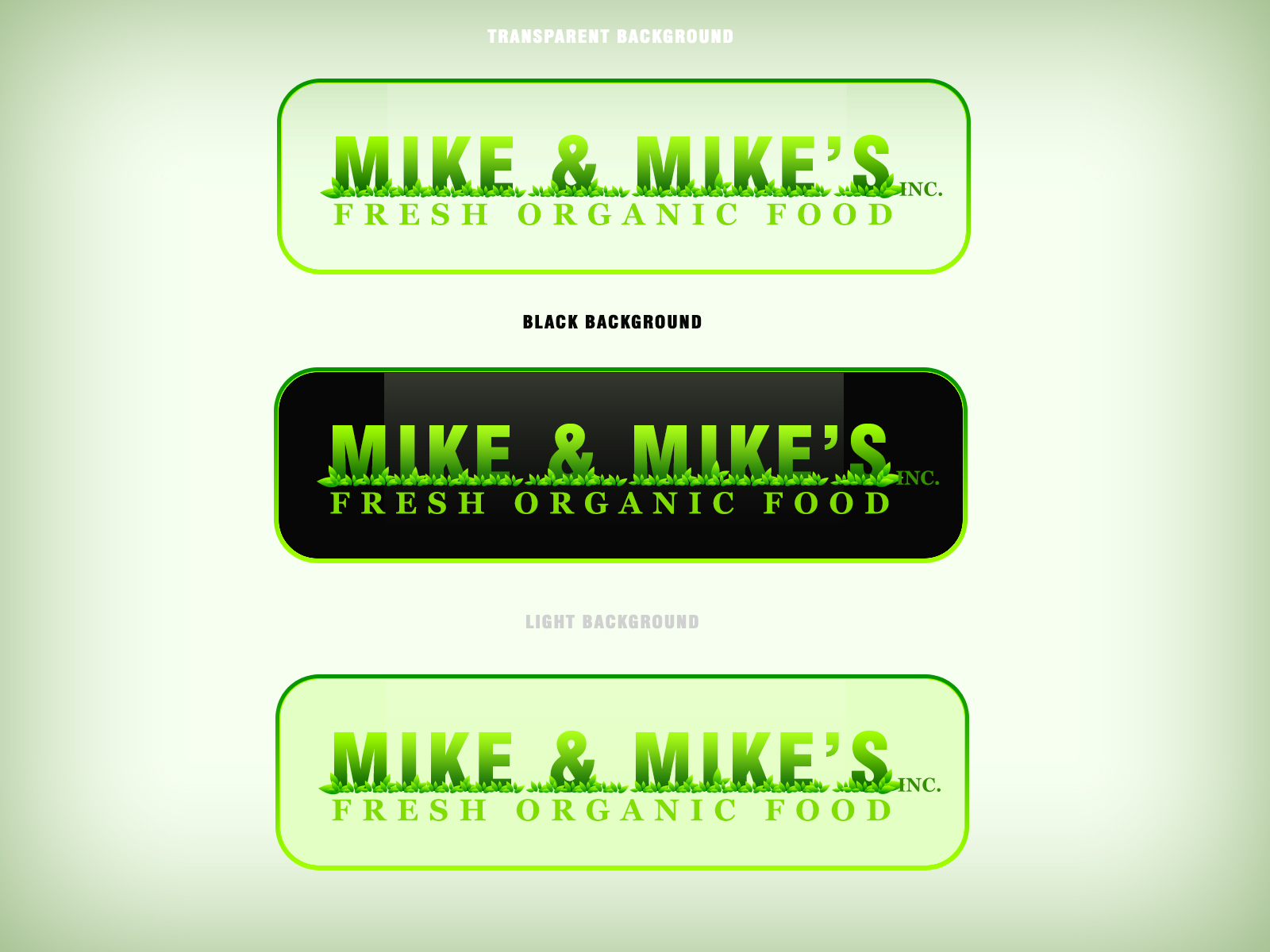 Logo Design by Virgilio Pineda III - Entry No. 40 in the Logo Design Contest Captivating Logo Design for Mike and Mike's Inc..