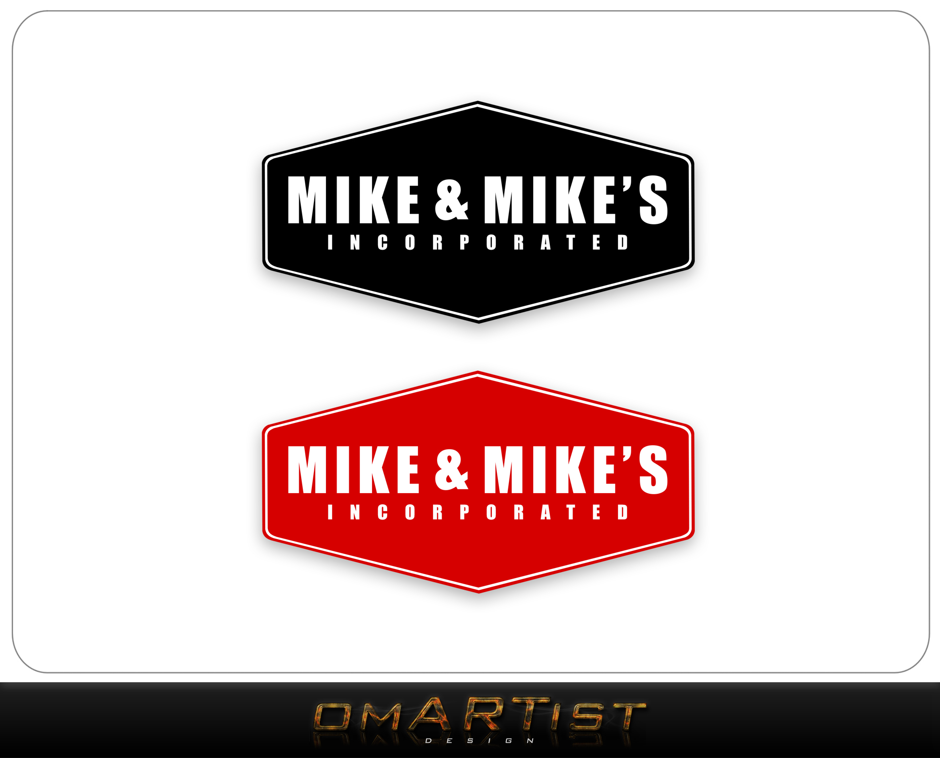 Logo Design by omARTist - Entry No. 46 in the Logo Design Contest Captivating Logo Design for Mike and Mike's Inc..