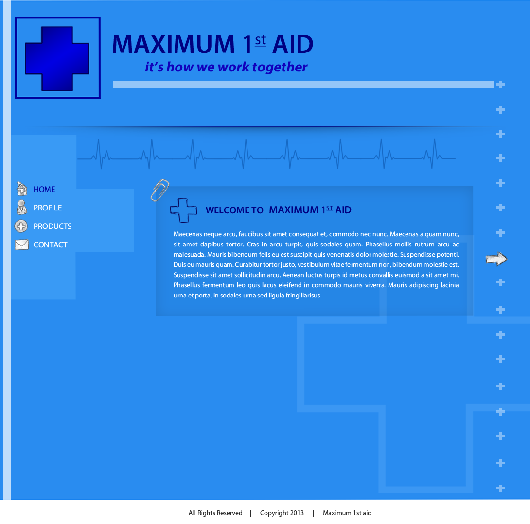 Web Page Design by Vishwa Km - Entry No. 23 in the Web Page Design Contest Inspiring Web Page Design for Maximum 1st Aid.