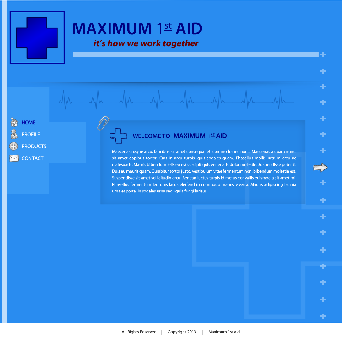 Web Page Design by Vishwa Km - Entry No. 25 in the Web Page Design Contest Inspiring Web Page Design for Maximum 1st Aid.