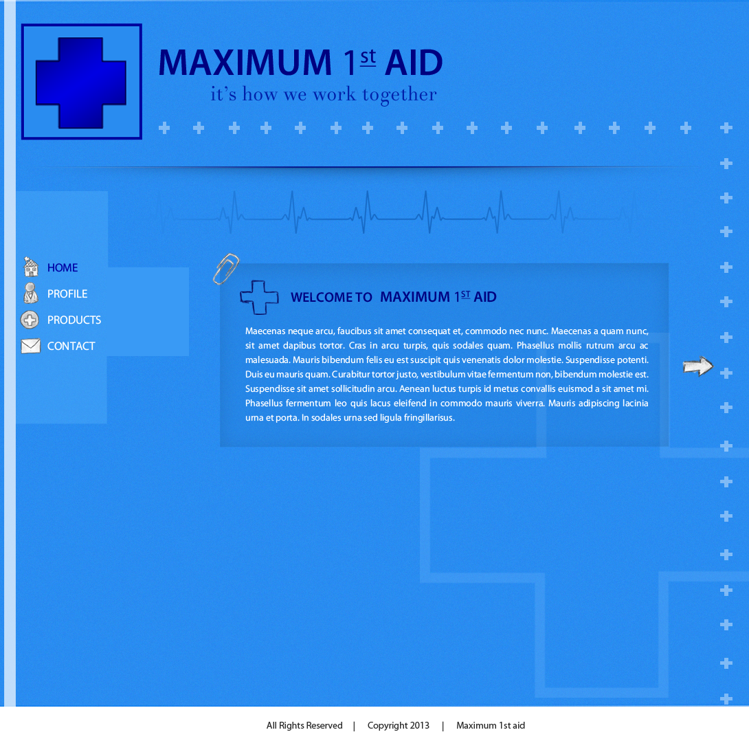 Web Page Design by Vishwa Km - Entry No. 27 in the Web Page Design Contest Inspiring Web Page Design for Maximum 1st Aid.