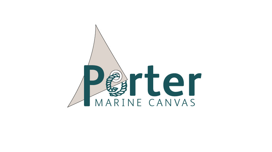 Logo Design by Christina Evans - Entry No. 1 in the Logo Design Contest Imaginative Logo Design for Porter Marine Canvas.