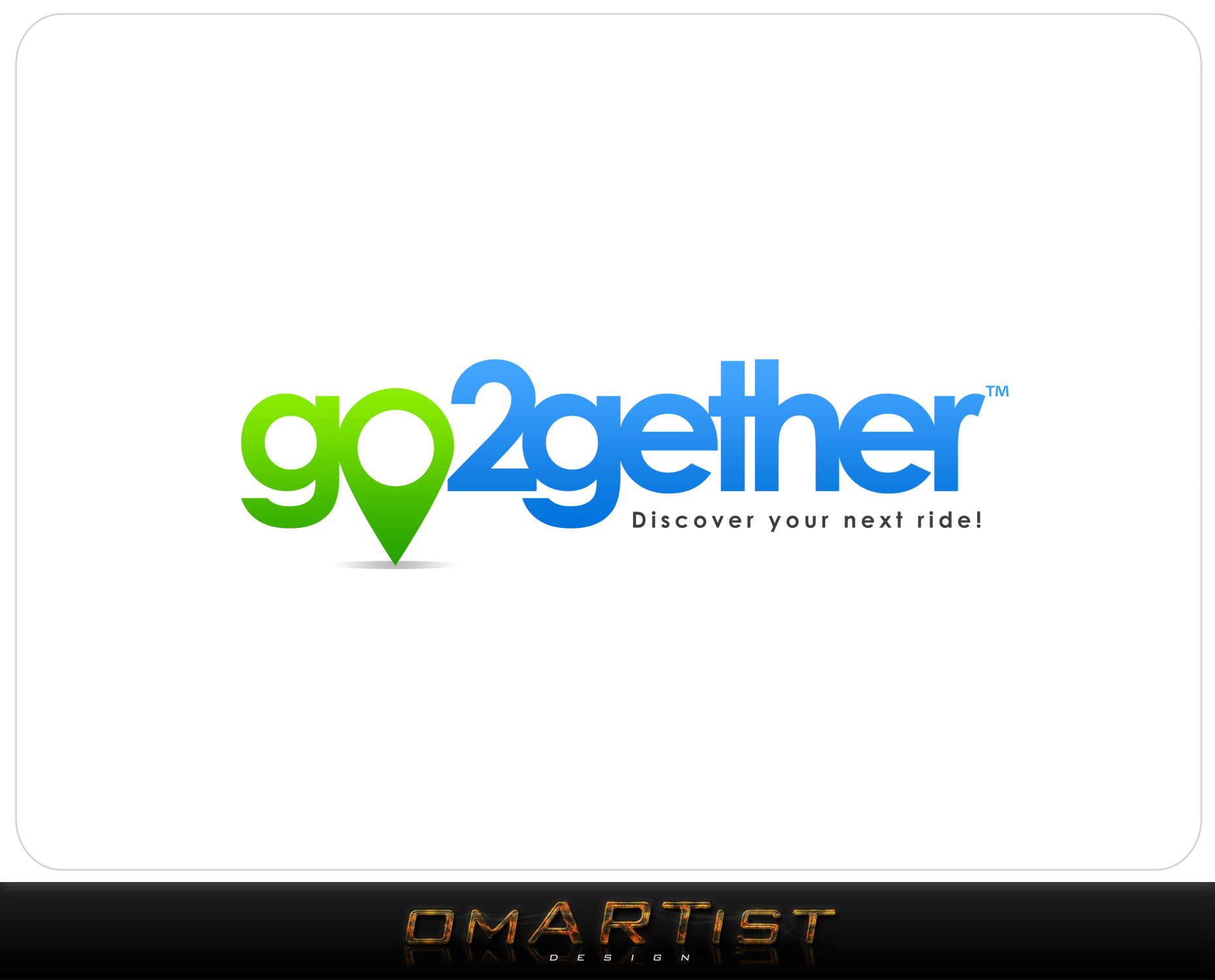 Logo Design by omARTist - Entry No. 33 in the Logo Design Contest Captivating Logo Design for GO2GETHER.