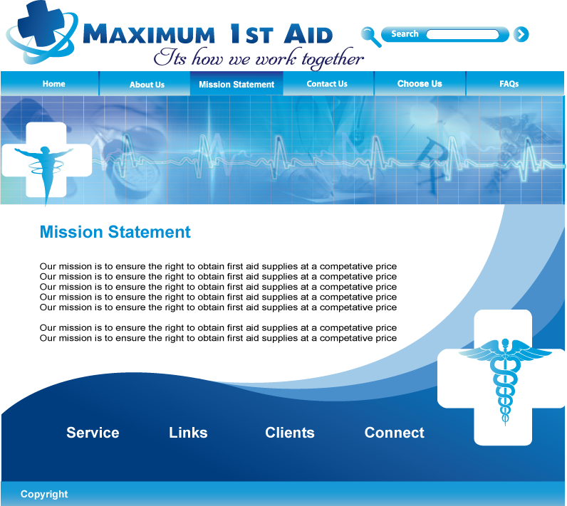 Web Page Design by Sri Lata - Entry No. 30 in the Web Page Design Contest Inspiring Web Page Design for Maximum 1st Aid.