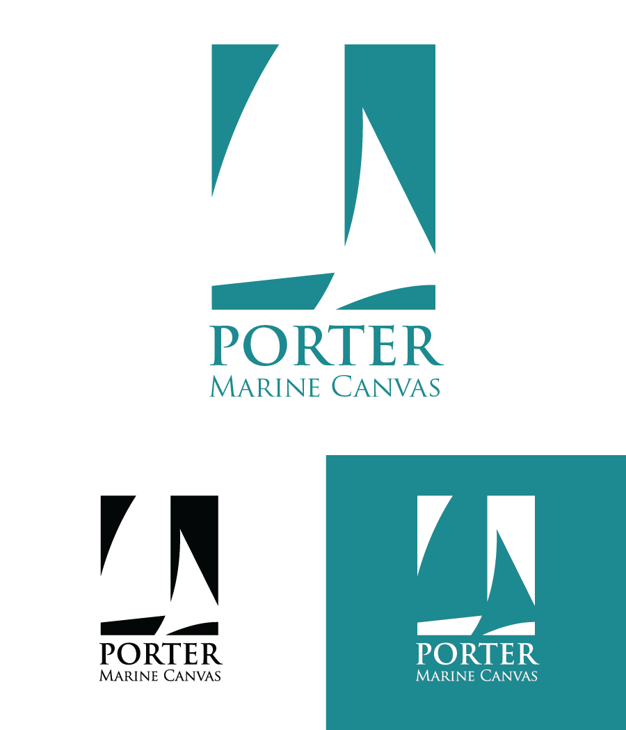Logo Design by Christina Evans - Entry No. 5 in the Logo Design Contest Imaginative Logo Design for Porter Marine Canvas.