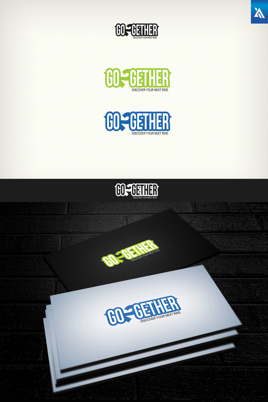 Logo Design by Virgilio Pineda III - Entry No. 44 in the Logo Design Contest Captivating Logo Design for GO2GETHER.