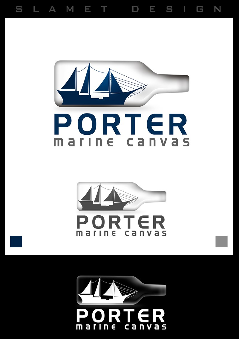 Logo Design by Respati Himawan - Entry No. 6 in the Logo Design Contest Imaginative Logo Design for Porter Marine Canvas.