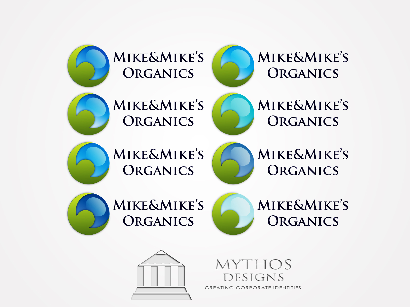 Logo Design by Mythos Designs - Entry No. 103 in the Logo Design Contest Captivating Logo Design for Mike and Mike's Inc..