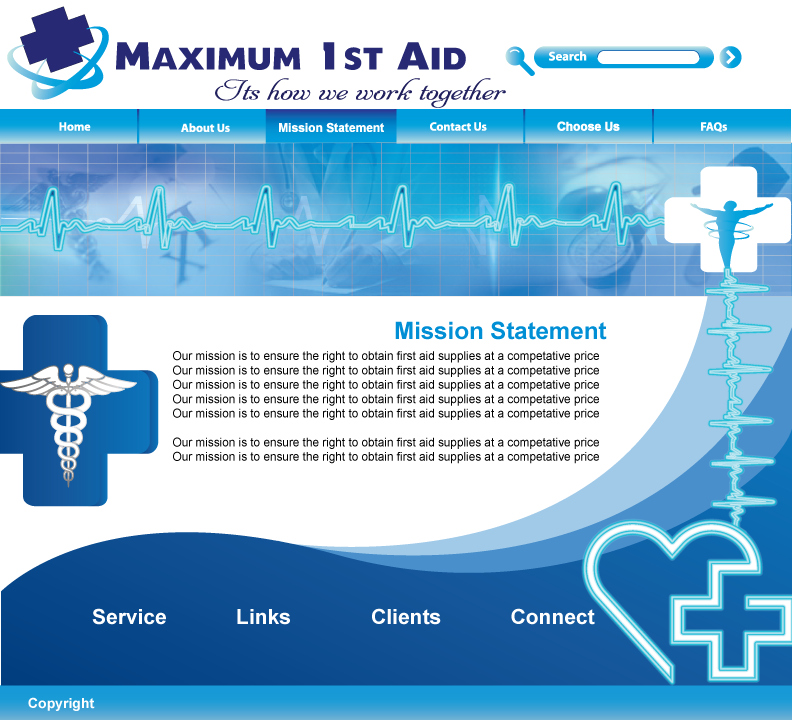 Web Page Design by Sri Lata - Entry No. 32 in the Web Page Design Contest Inspiring Web Page Design for Maximum 1st Aid.