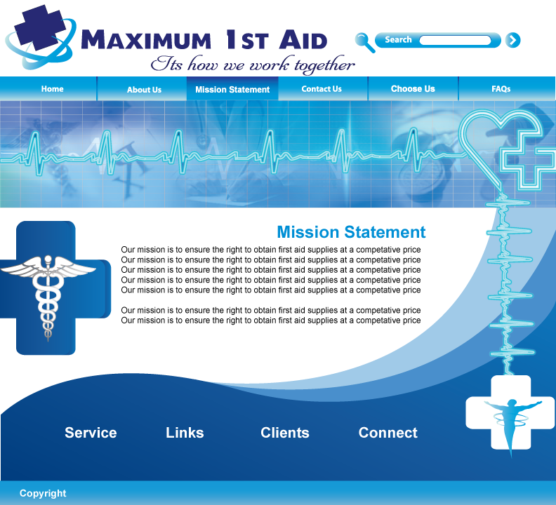 Web Page Design by Sri Lata - Entry No. 33 in the Web Page Design Contest Inspiring Web Page Design for Maximum 1st Aid.