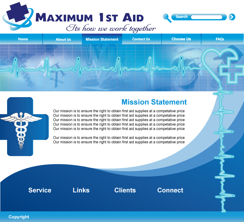 Web Page Design by Sri Lata - Entry No. 34 in the Web Page Design Contest Inspiring Web Page Design for Maximum 1st Aid.