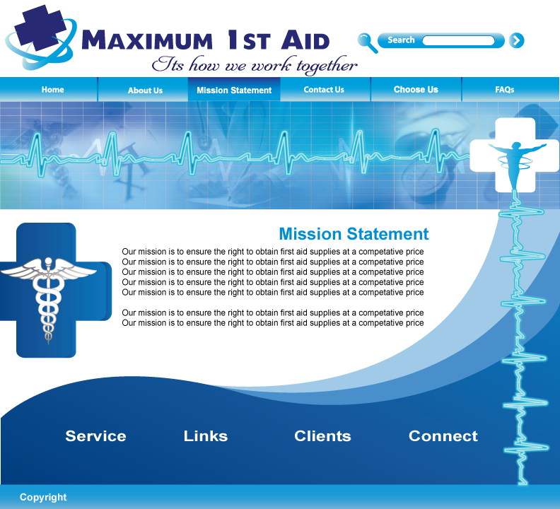 Web Page Design by Sri Lata - Entry No. 35 in the Web Page Design Contest Inspiring Web Page Design for Maximum 1st Aid.