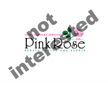 Logo Design by Gmars - Entry No. 99 in the Logo Design Contest Pink Rose Home Support Services.