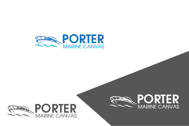 Logo Design by Private User - Entry No. 9 in the Logo Design Contest Imaginative Logo Design for Porter Marine Canvas.