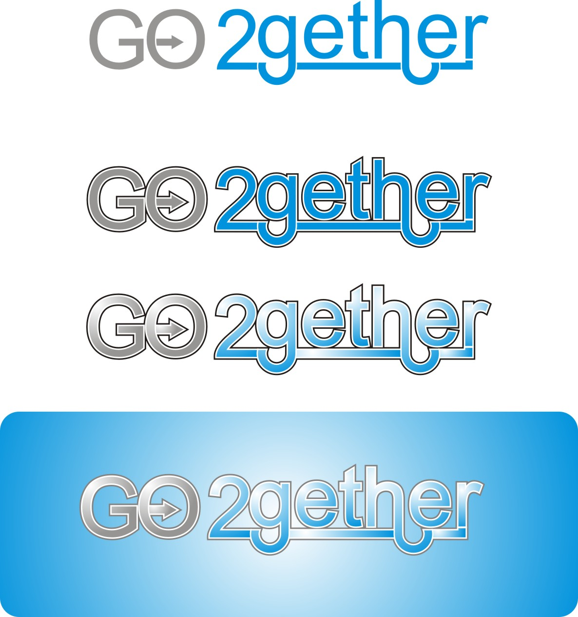 Logo Design by Korsunov Oleg - Entry No. 62 in the Logo Design Contest Captivating Logo Design for GO2GETHER.