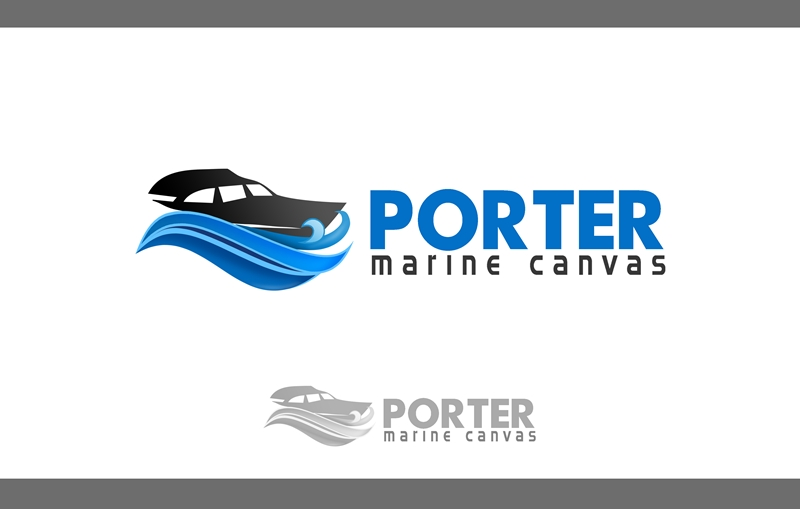 Logo Design by Respati Himawan - Entry No. 16 in the Logo Design Contest Imaginative Logo Design for Porter Marine Canvas.