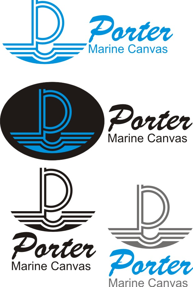 Logo Design by Korsunov Oleg - Entry No. 21 in the Logo Design Contest Imaginative Logo Design for Porter Marine Canvas.