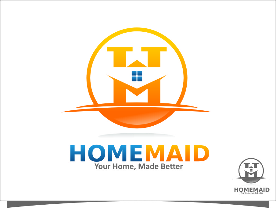 Logo Design by Ngepet_art - Entry No. 9 in the Logo Design Contest Unique Logo Design Wanted for HomeMaid.
