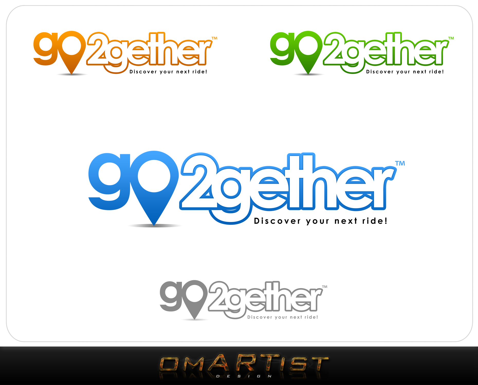 Logo Design by omARTist - Entry No. 92 in the Logo Design Contest Captivating Logo Design for GO2GETHER.