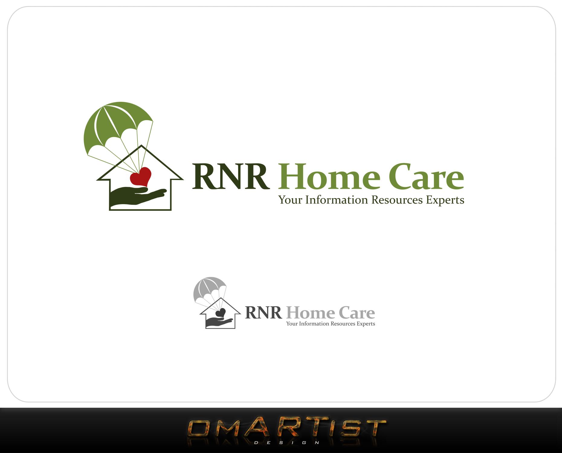 Logo Design by omARTist - Entry No. 1 in the Logo Design Contest Imaginative Logo Design for RNR HomeCare.