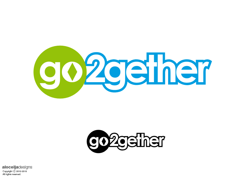 Logo Design by alocelja - Entry No. 121 in the Logo Design Contest Captivating Logo Design for GO2GETHER.