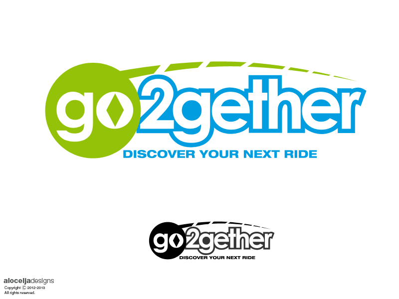 Logo Design by alocelja - Entry No. 124 in the Logo Design Contest Captivating Logo Design for GO2GETHER.