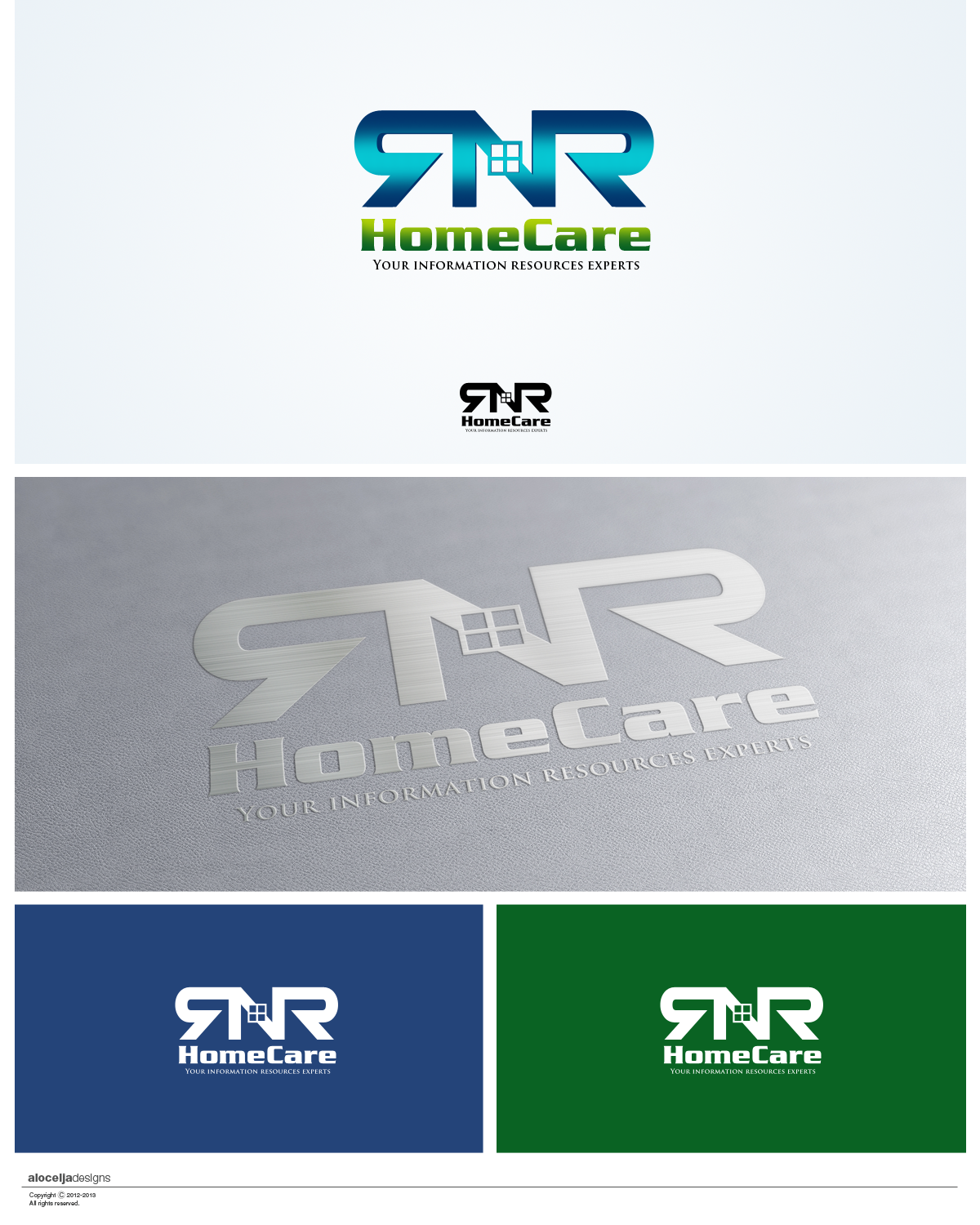 Logo Design by alocelja - Entry No. 18 in the Logo Design Contest Imaginative Logo Design for RNR HomeCare.