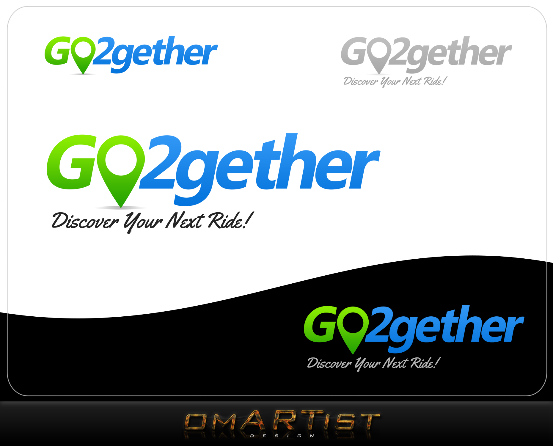 Logo Design by omARTist - Entry No. 141 in the Logo Design Contest Captivating Logo Design for GO2GETHER.